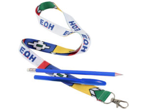25Mm Lanyard With Unbranded Pencil And Pen