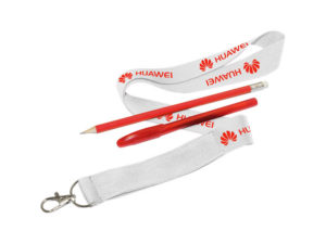 25Mm Print Lanyard With Unbr Pencil+Pen