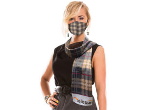 Arial Scarf And Mask Set
