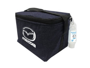 Denim 6 Can Cooler With 50Ml Hand Sanitiser