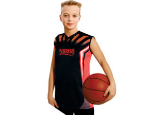 Junior Unisex Basketball Moisture Management Sublimation Shirt