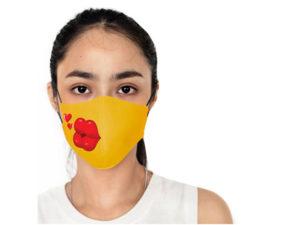 Ladies Emoji Gage 3 Layer Washable Face Mask