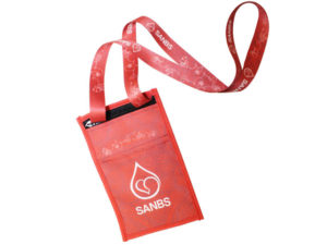 Luci Lanyard Pouch With 20Mm Polyester Lanyard