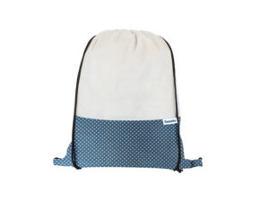 Shweshwe and Non Woven Drawstring Bag